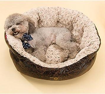 FEINIAO Negro Circular Kennel Perro pequeño Mascotas Cama Mat Saco Gatos Perro Perros Mat: Amazon.es: Hogar