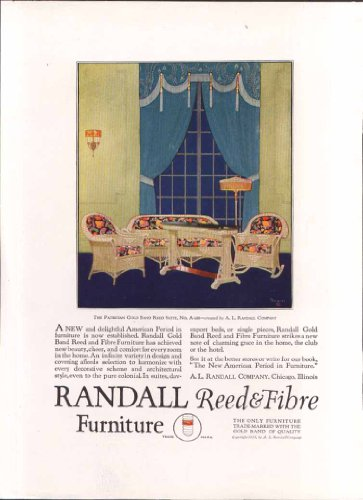 Randall Gold Band Reed & Fibre Furniture ad 1923 (Reeds Gold Bands)