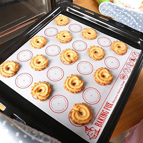 Silicone Macaron Baking Mat - 5PCS Non-Stick Silicone Pad Sheet Bakeware Pastry Tools Rolling Dough Mats for Cake Cookie Macaron Baking Mats