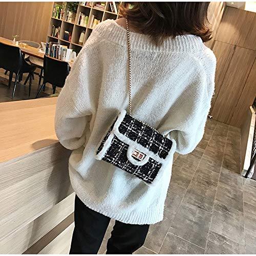Fufufuchen Tweed Designer Donne Invernali Borsa Donna Tracolla Nero nbsp;nera Quadrata Le nbsp; Per Di Borse A Piccola rCrwq1g