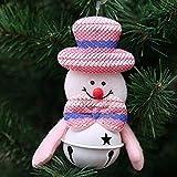 Pollyhb Christmas Bell,Christmas Home Furnishing Decoration Tree Ornaments Small Bell, Christmas Hang Decoration Santa Claus Elk Snowman Bear (A)