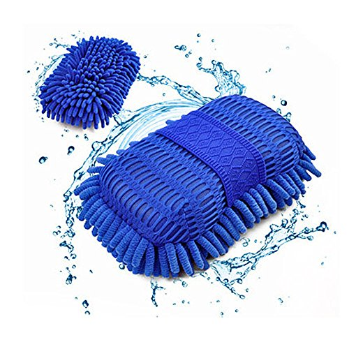 Car Wash Sponge Set,2 Pcs Chenille Microfiber Cleaning Car Scrub Pad Towel,9 In4.3 In,Color -