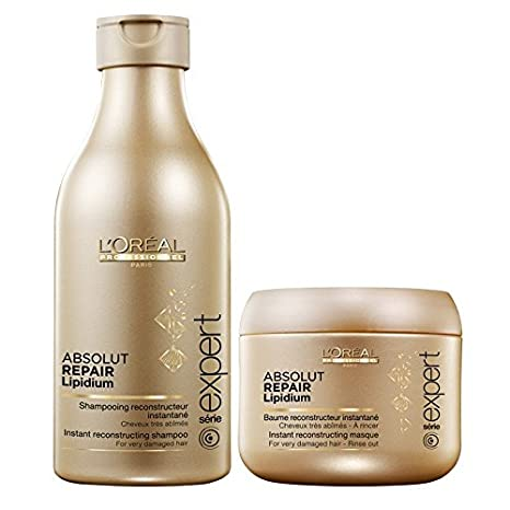 Buy L Oreal Paris Professional Absolute Repair Lipidium Shampoo - 250 Ml  With Mask - 196 Gm Online at Low Prices in India - Amazon.in 9b8ac2100e