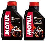 Motul 104034 Set of 2 710 2T Motor Oil 1-Liter Bottles
