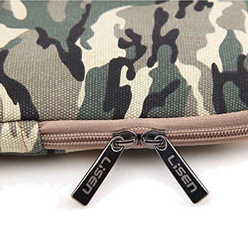 Baymate Unisexo Design Bolso Para Portátil Bolso Para Notebook Funda 11.6-15 Pulgadas 15 Pulgada Camuflaje verde del ejército