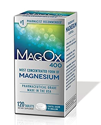 Mag-Ox 400 Magnesium Mineral Dietary Supplement Tablets, Pharmaceutical Grade, 120 Count Box (Pack of 3)
