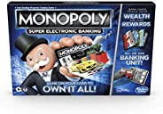 Monopoly Super Electronic Banking Board Game, Electronic Banking Unit, Choose Your Rewards, Cashless Gameplay