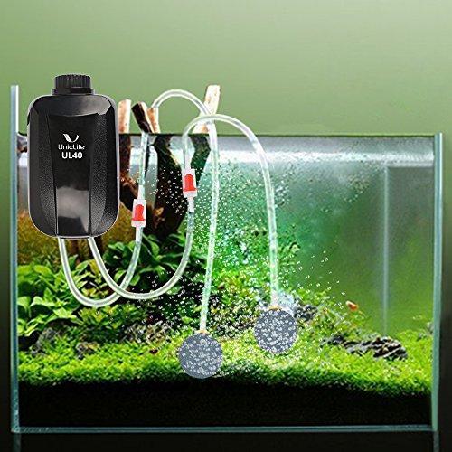 Aquarium Air Pump 4 Watt 4 Lpm 2 Outlets Oxygen Pump For