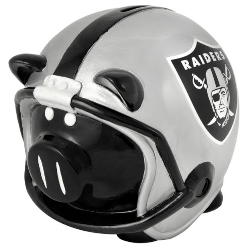 Oakland Raiders Helmet Piggy Bank