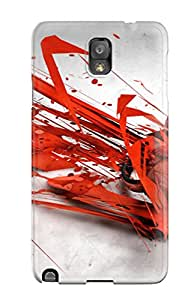 Hot Snap-on Abstract Music Headphones Hard Cover Case/ Protective Case For Galaxy Note 3