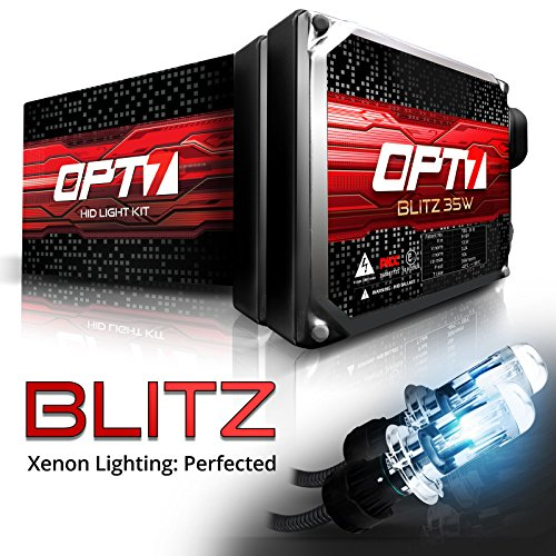 Hid Lighting Kit - OPT7 Blitz 35w H4 9003 Bi-Xenon HID Kit - 3.5x Brighter - 4x Longer Life - All Bulb Colors and Sizes - 2 Yr Warranty [8000K Ice Blue Light]