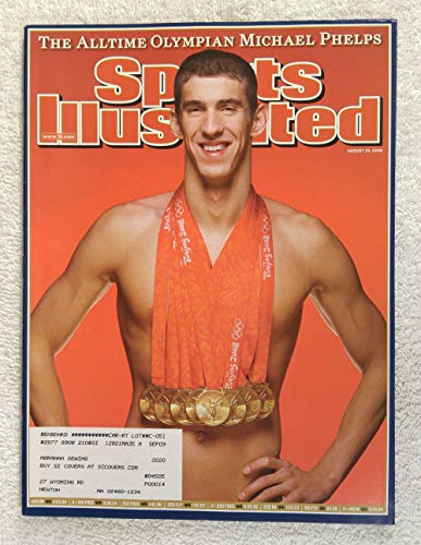 The All-time Olympian Michael Phelps - 8 Gold Medals - XXIX Summer Olympics - Beijing, China - Sports Illustrated - August 25, 2008 - Swimming - SI