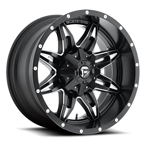 Fuel Offroad D567 Lethal 20x10 8x180 -12mm Black/Milled Wheel (10 X 8 Aluminum Wheel)