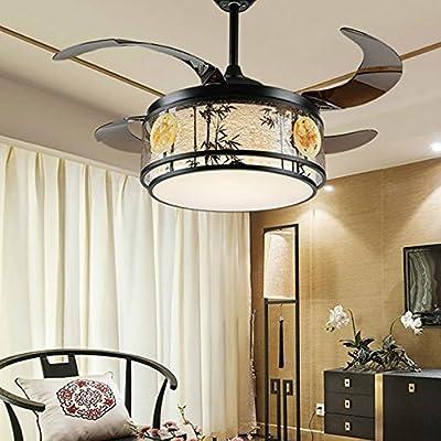 RS Iluminación 42 pulgadas LED retráctil Ventilador de techo ...