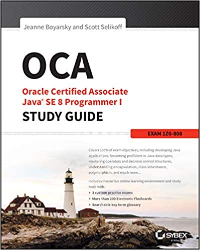 Book's Cover of OCA: Oracle Certified Associate Java SE 8 Programmer I Study Guide: Exam 1Z0-808 (Inglés) Tapa blanda – 22 enero 2015