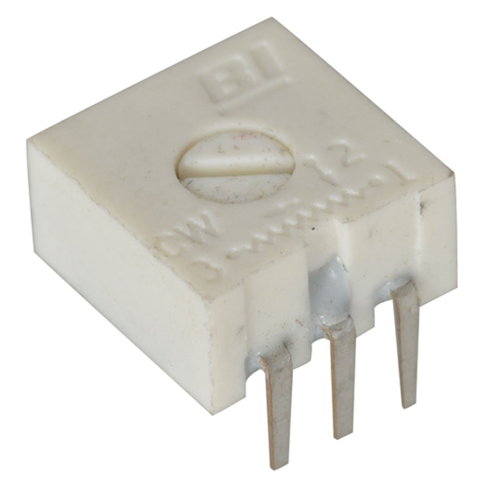 Pack of 10 3//8 Size 3//8 Size 1//2 Watt Pack of 10 Single Turn 1K Ohm BI Technologies 72RPXR1K Square Cermet Potentiometer
