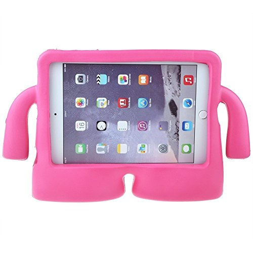 Lioeo iPad Mini Case for Kids iPad mini 4 Case with Handle Stand Shock Proof Cover Lightweight EVA Foam Protective Cases and Covers for Apple iPad Mini 4 3 2 1 7.9 inch (Hot Pink) by Lioeo (Image #1)