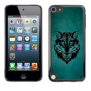 LECELL--Funda protectora / Cubierta / Piel For Apple iPod Touch 5 -- MAJESTIC WOLF PATRÓN --