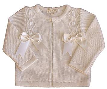 d8dcea12f Baby girl Spanish BOW cardigan jacket bolero christening wedding 18 ...