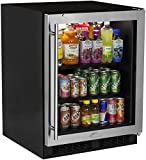 Marvel MA24BCG1RS: 24'' Beverage Center ADA Height (Marvel Low Profile) - Stainless Frame Glass Door, Right Hinge