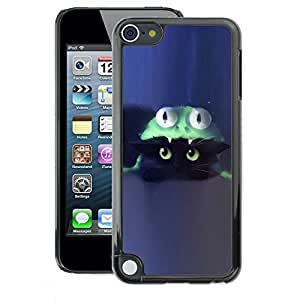 A-type Arte & diseño plástico duro Fundas Cover Cubre Hard Case Cover para Apple iPod Touch 5 (Cat Costume Cute Blue Kitten)