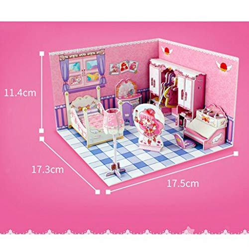 NATFUR 1:24 Scale DIY Dolls House Kit with Furniture - Little Magic Fairy Bedroom