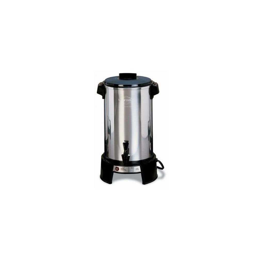 Focus Foodservice 43536 West Bend Commercially Rated Coffee Maker, 36 Cups, 1090 Watts, 120V, 60Hz, 17-13/32'' x 11-7/8'' x 11-7/8'', Aluminum