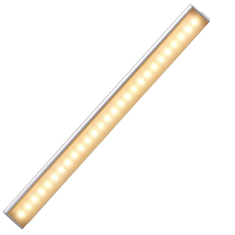 Cshidworld Motion Sensing Closet Lights, Rechargeable Stick-on Anywhere Portable 27 LED Wireless Sensor Cupboard/Garage/Pantry Cabinet Night Lighting Bar
