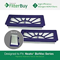2 - Neato XV Series High-Performance Filters, Part XV-21 (XV21). Designed by FilterBuy to fit Neato XV Series Robot Vacuums
