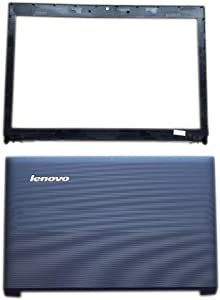 Andet Original Compatible with Replacement for Lenovo B570 B570E B575 B575E Laptop LCD Rear Lid Back Cover Top Case Front Bezel Screen Frame 31052085 90200224 60.4IJ12.001 (Bezel and Rear lid 1)