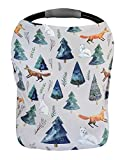 Premium Soft, Stretchy, and Spacious 4 in 1 Multi-Use Cover for Nursing, Baby Car Seat, Stroller, Scarf, and Shopping Cart - Best Gifts by Pobibaby (Magical)