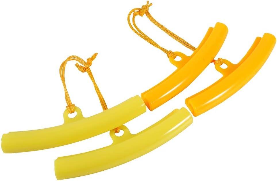 Color : Naranja Protector de Cambiador de Neum/áticos de Coche Protectores de Llanta Herramienta de Ahorro de Bordes de Rueda de Neum/ático 5PCS