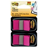 Wholesale CASE of 25 - 3M Post-it Standard Tape Flags-Post-it Flags, 1''x1-3/4'', 100/PK, Bright Pink
