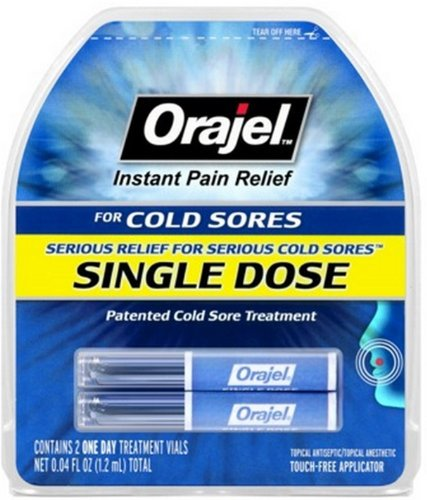 Orajel Single Dose Cold Sore Treatment - 2 Treatment Vials (6 count clipstrip) by Orajel