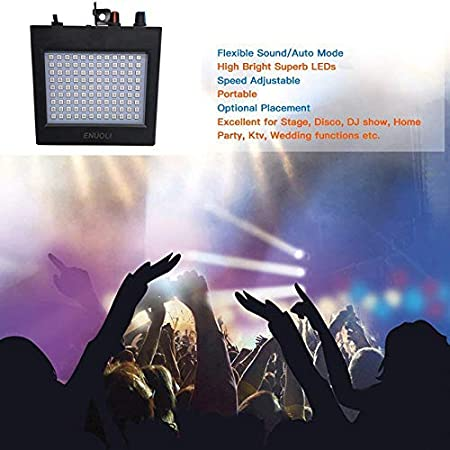Amazon.com : GRANDEY Super-Bright RGB Strobe Licht 25 W 108 ...