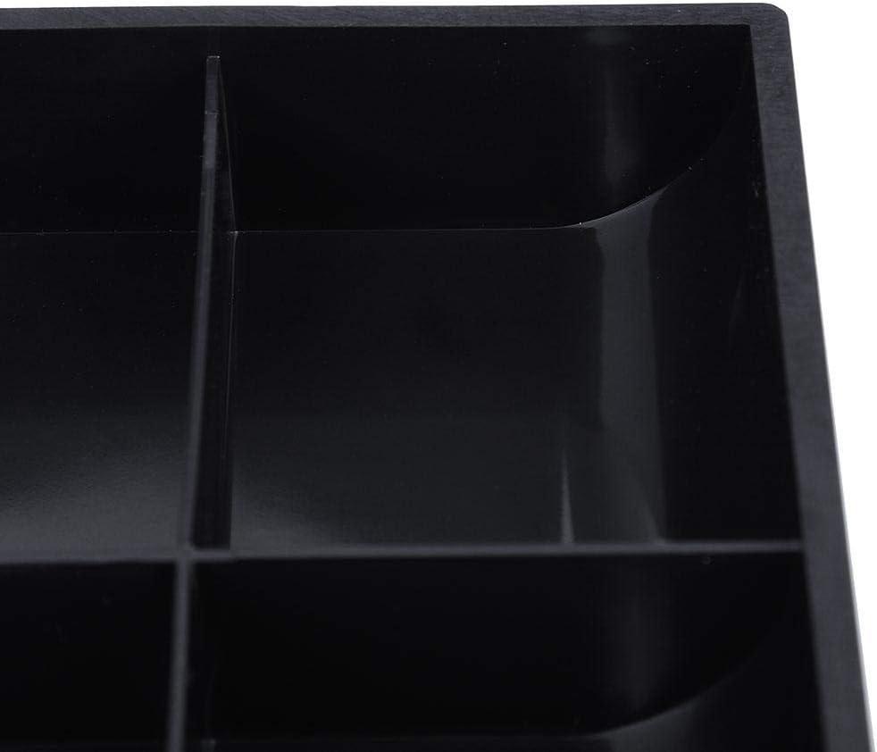 White Plateau de caisse Remplacement de linsert du registre du tiroir-caisse 3 factures 3 pi/èces 24,5/×24,5/×3,5 cm Bo/îte de rangement