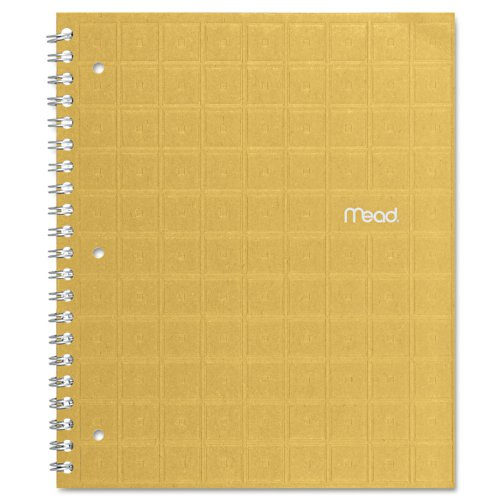 Mead 06594 Recycled Notebook, College Ruled, 11 x 8 1/2, 80 Sheets, Perforated, Assorted (Mead Recycled Twin Wire)