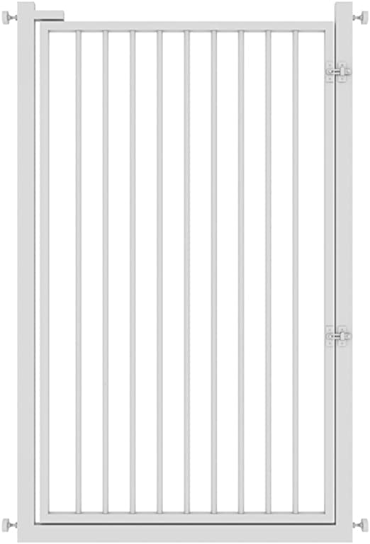 barrera seguridad Supergate Puerta Extra Alta Fácil De Cerrar, Blanca, Se Adapta A Espacios Entre 65 Cm A 140 Cm De Ancho Y 120 Cm De Alto (Tamaño : 131-135 cm) : Amazon.es: Hogar