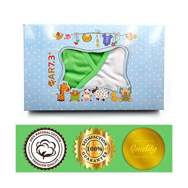 QAR7.3 Completo Vestiti Neonato 0-3 mesi - Set Regalo, Corredino da 5 pezzi: Body, Pigiama, Bavaglino e Cuffietta (Verde… 2