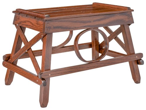 Rustic Foot Stool - Oak in Michael's Cherry Stain ()