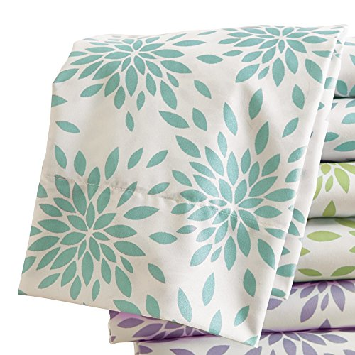 Floral Burst Fitted Pillow Turquoise