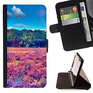 Momo Phone Case / Flip Funda de Cuero Case Cover - Psychedelic Pintura LSD;;;;;;;; - Samsung Galaxy S5 V SM-G900