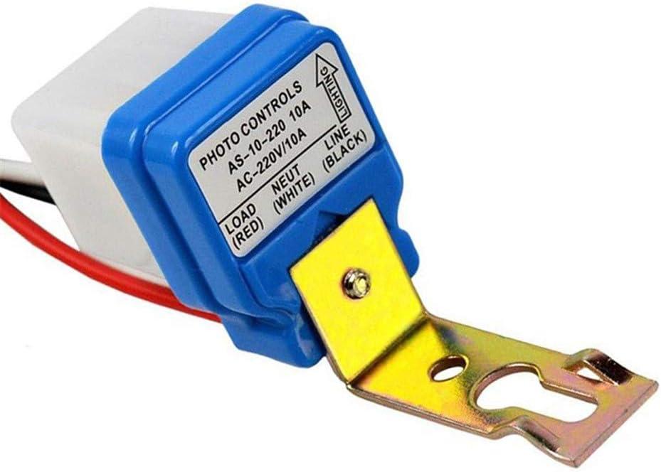 /Étanche /Éclairage Public Contr/ôleur Automatique Interrupteur Cr/épusculaire /étanche 220 V Capteur Automatique de D/étection Jeu Int/érieur et Ext/érieur Interrupteur 220v