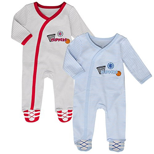 NBA Los Angeles Clippers Newborn B-Ball Best 2 Piece Coverall Set, 6-9 Months, Cool ()