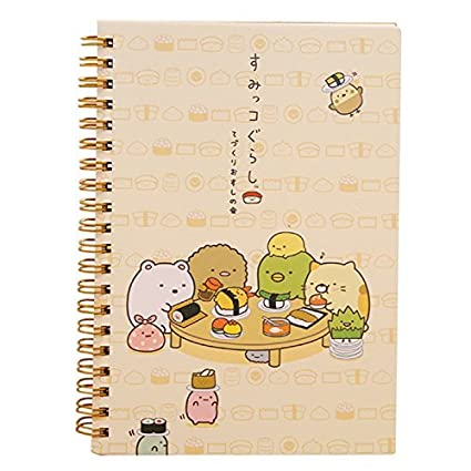 TOOGOO(R) Kawaii Japan cartoon Rilakkuma & Sumikkogurashi Coil notebook/Diary agenda/pocket book/office school supplies£¨Dinner Party£