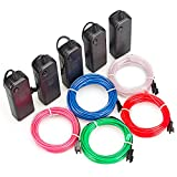 Zitrades EL Wire Portable Neon Light for Parties, Halloween DIY Decoration (3m 9ft, Red/Blue/Green/White/Pink)