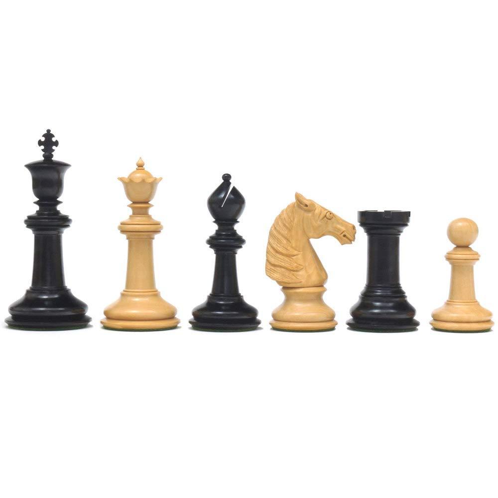 Das Bad Schachfiguren in Ebenholz 10.8cm