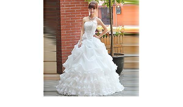 Sei Novia Vestido de Novia de Lujo Qi Di Diamante Vestido de Novia de Vuelta Vestido de Novia Vestido de Novia Vestido de Novia,UN,XXL: Amazon.es: Hogar