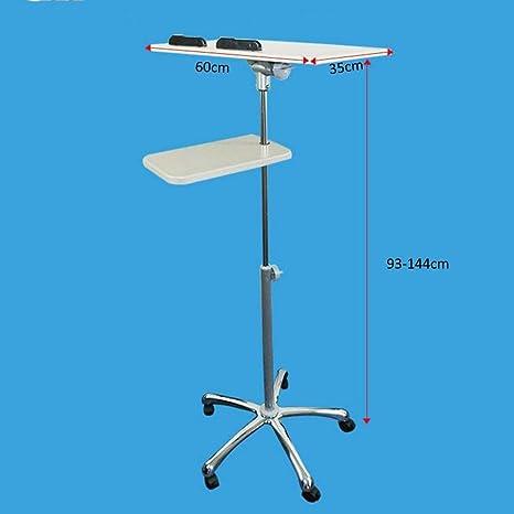 CWJ Mesa pequeña para el hogar Stand Up móvil Altura del ...