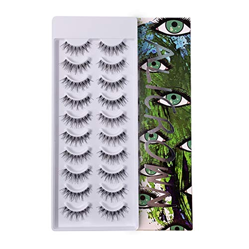 ALICROWN GREEN Natural Mutipack False Eyelashes 10 Pairs Fake Lashes